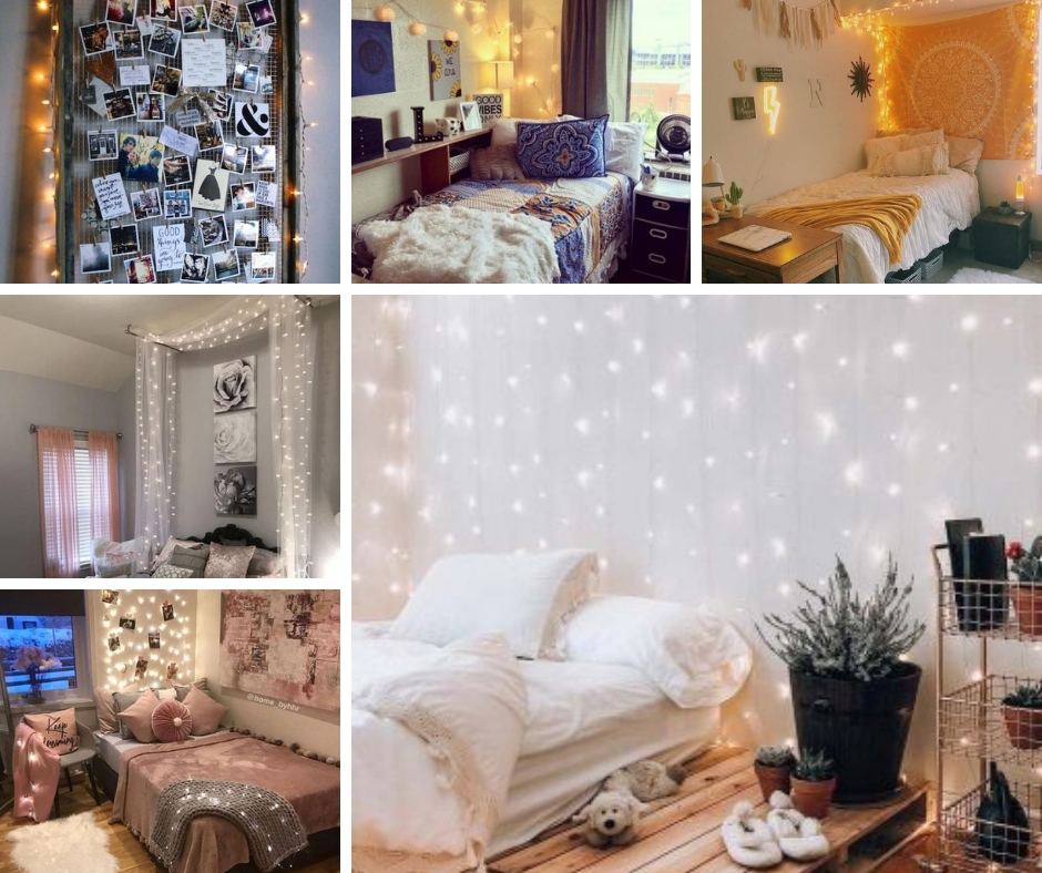 22 Ways To Decorate Your Dorm Room With String Lights Raising Teens Today,What Does A 400 Sq Ft Apartment Look Like