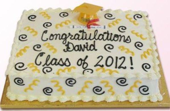 Confetti Cake With Grad Hat