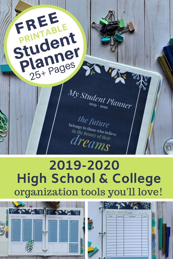 graphic regarding Printable Student Planner Download named Totally free Scholar Binder for Back again-toward-College or university (25+ Printables