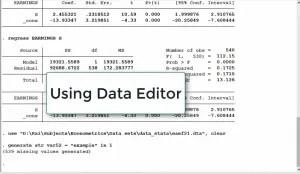 Using Data Editor