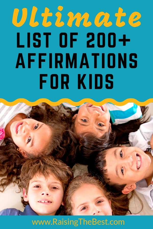 The Ultimate List of Affirmations for Kids