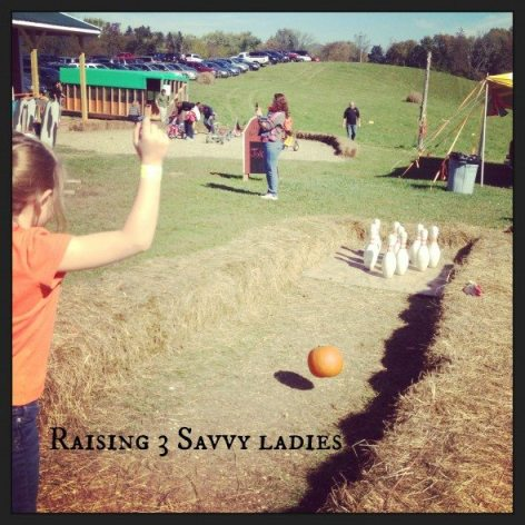 Wright Family Farm Pumpkin bowling