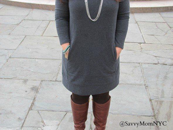 j jill french dress gray