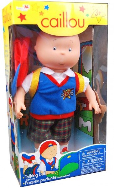 Caillou doll in a box giveaway