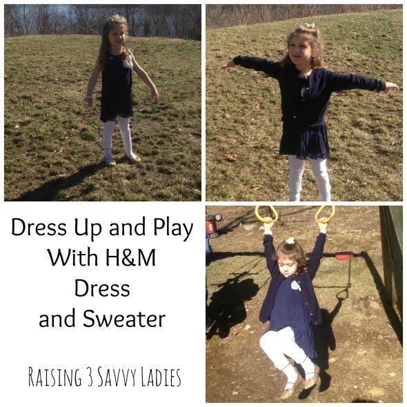 H&M Navy Dress and Sweater Raising 3 Savvy ladies