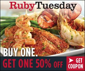 Buy One Get One 50 Entree Coupon For Ruby Tuesday Extended Until 919