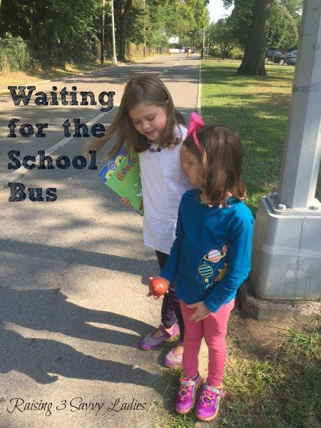 Back to School Hanna Andersson waiting for bus