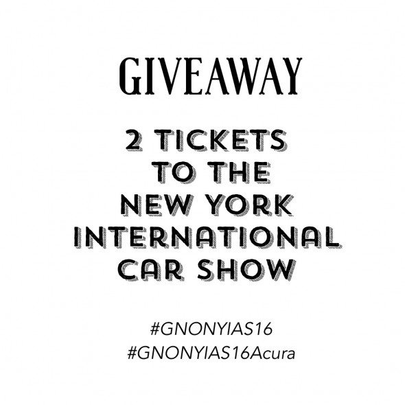 New York International Car Show Ticket Giveaway