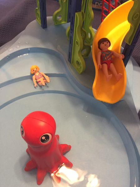 Playmobil Figurines in waterpark