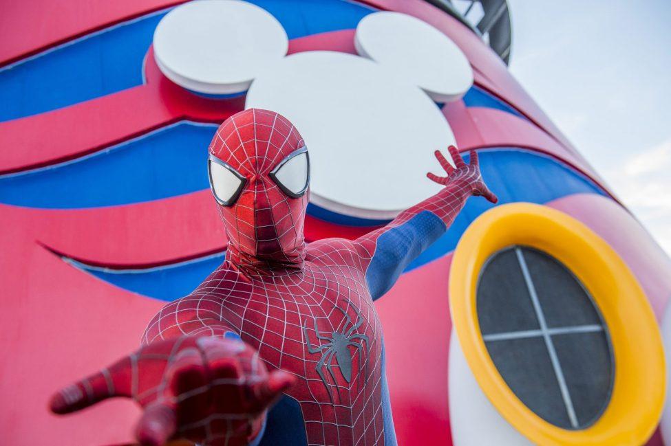 Spider-Man on ship deck