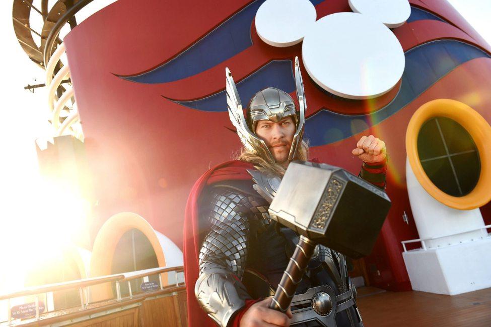 Thor on ship deck