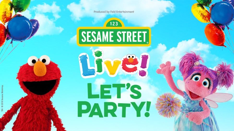 Sesame Street Live banner with Elmo