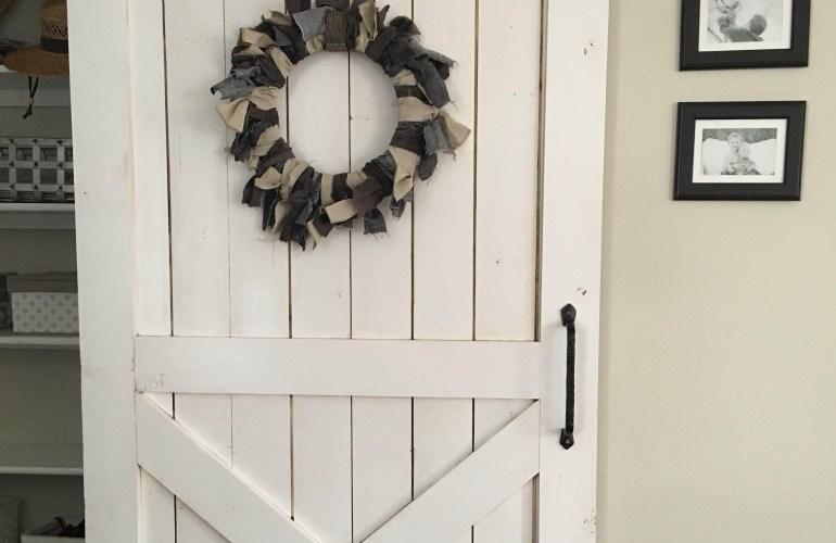 DIY Sliding Barn Door on a budget