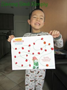 Free printable Very Merry Larry kids activity