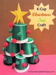 DIY K-Cup Christmas Tree Craft