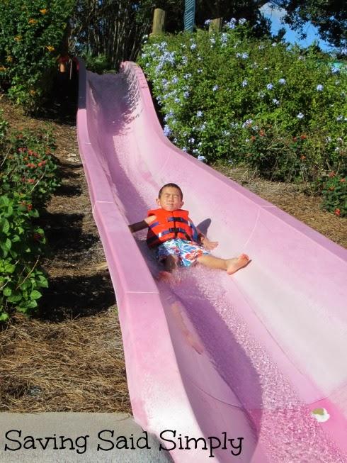 5 year old on Aquatica water slide