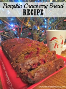 Pumpkin Cranberry Bread Recipe #CartonSmart #sponsored