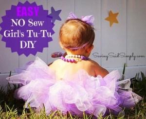 Easy No Sew Girl's TuTu DIY