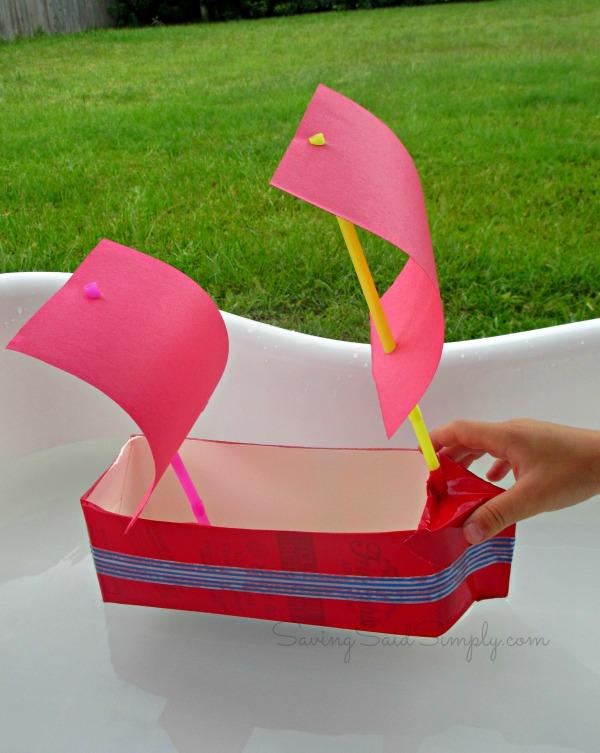 kids craft milk carton sailboat