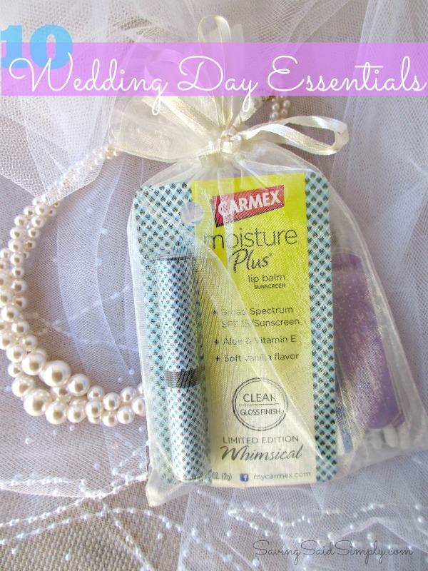 Wedding day essentials