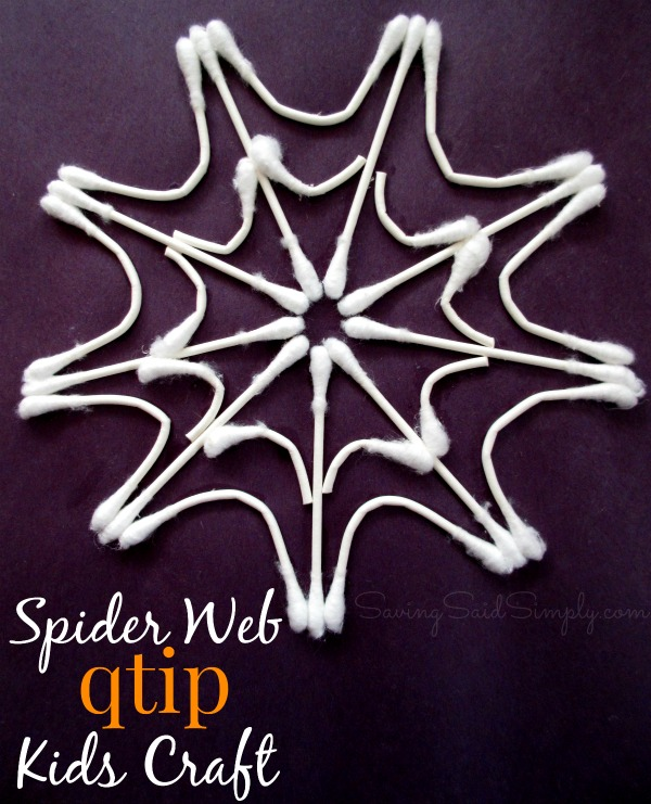 Spider web kids craft