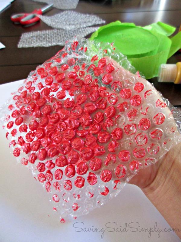 Ubble wrap kids craft