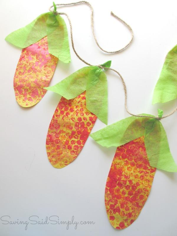 Corn banner craft