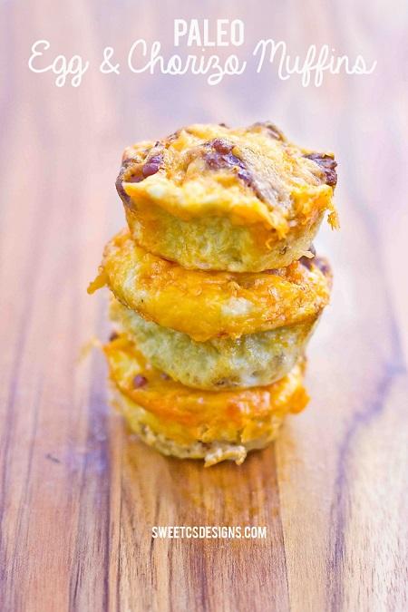 Paleo egg chorizo muffins