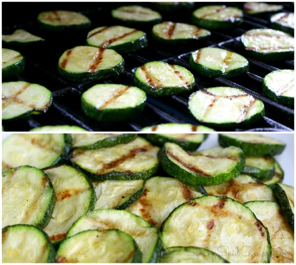 Grilled zucchini chips
