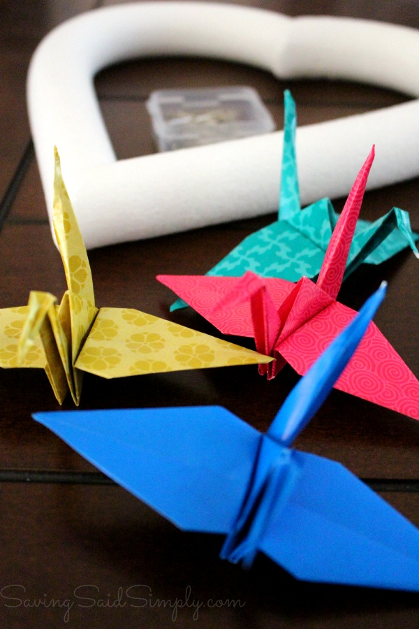 How to origami wreath