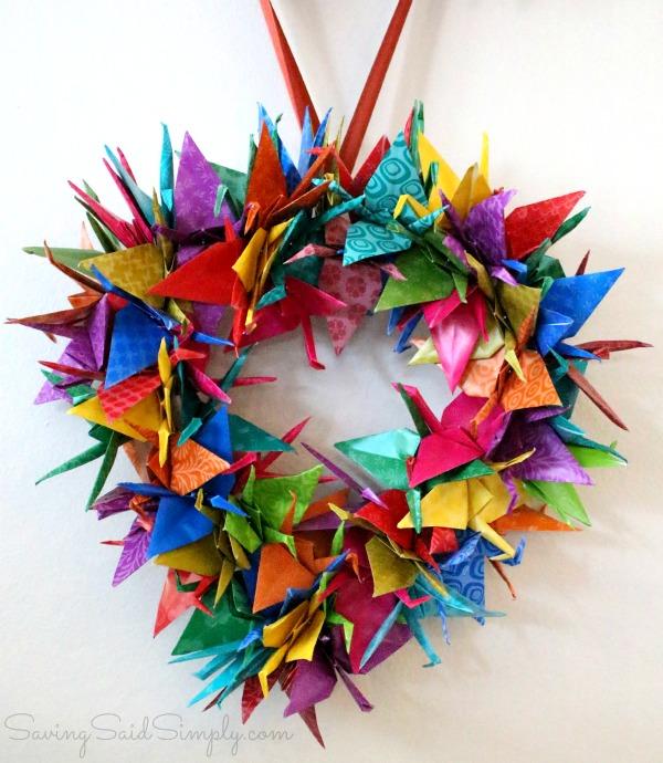 Origami wreath craft tutorial