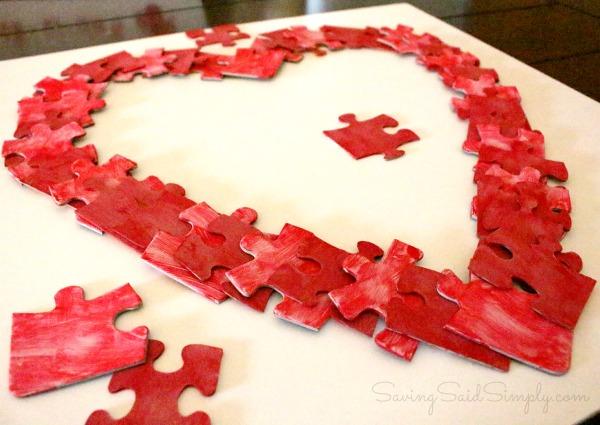 Puzzle kids craft