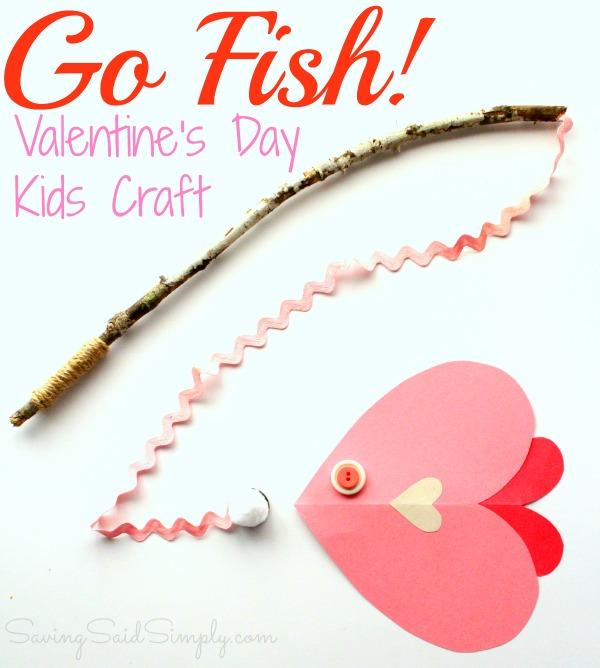 Valentine's day kids craft fish