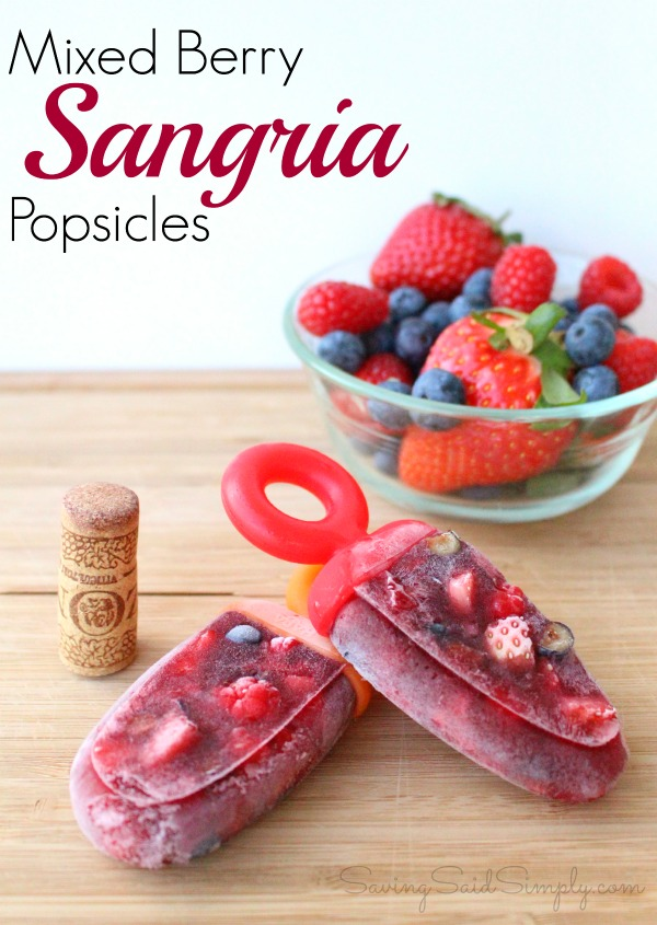 Mixed berry sangria popsicles