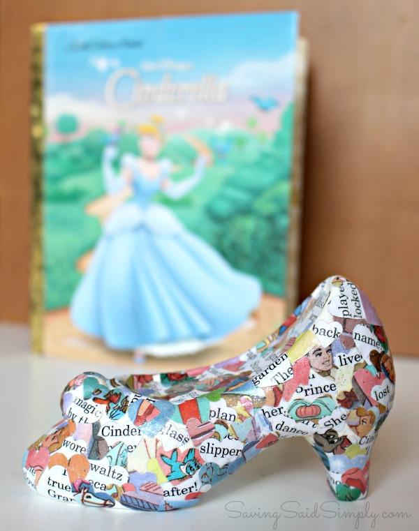 DIY Cinderella craft glass slipper