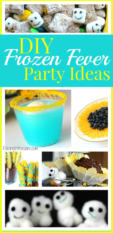 DIY frozen fever party pinterest