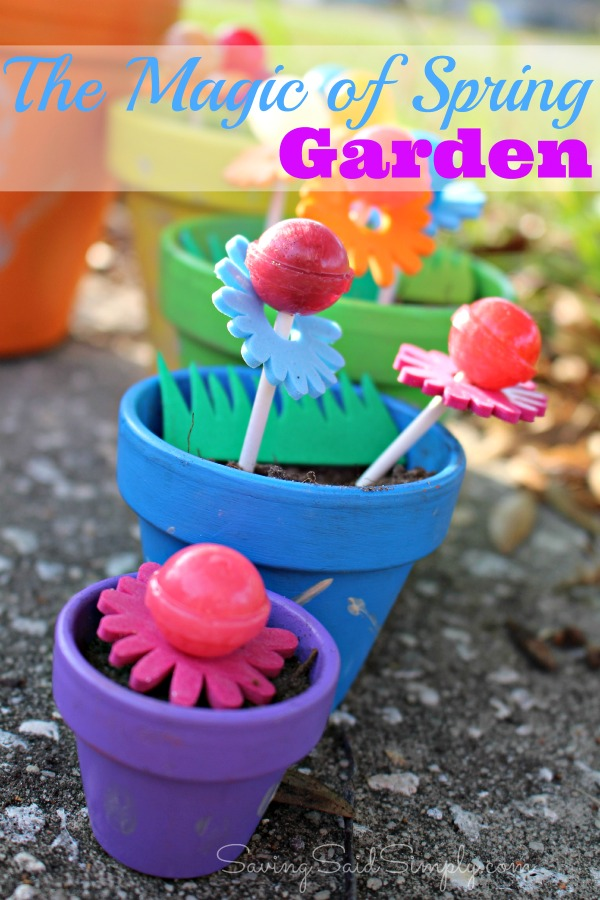 DIY spring garden for kids