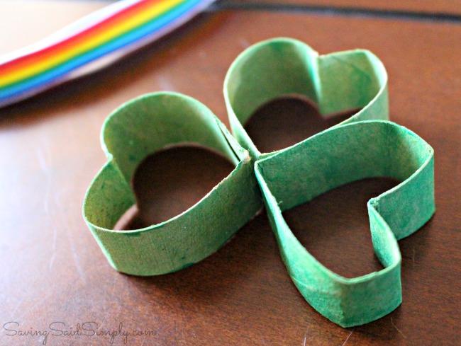 Easy shamrock kids craft