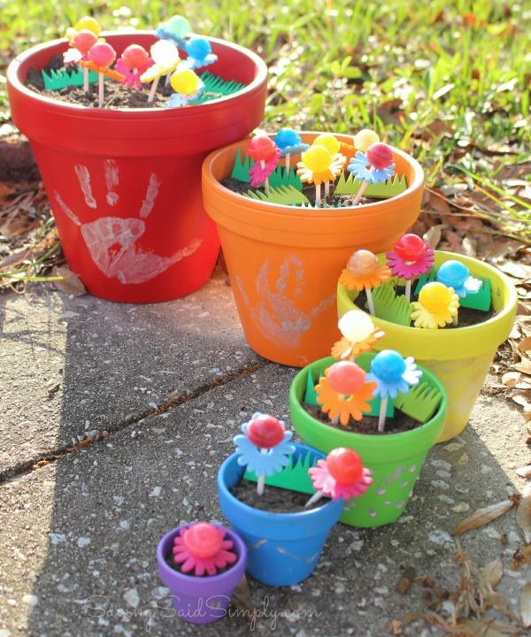 Lollipop garden craft