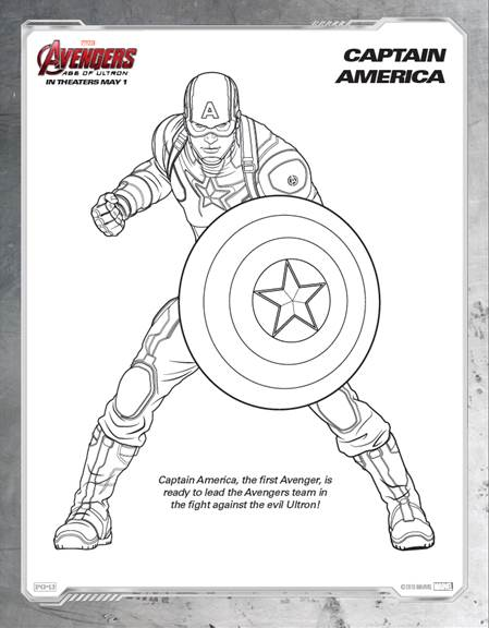 Free avengers age of ultron printable coloring sheets