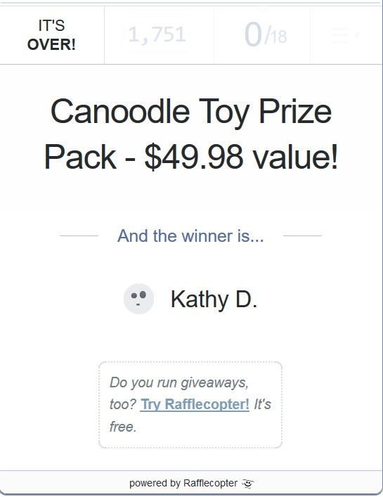 Canoodle giveaway 5-15