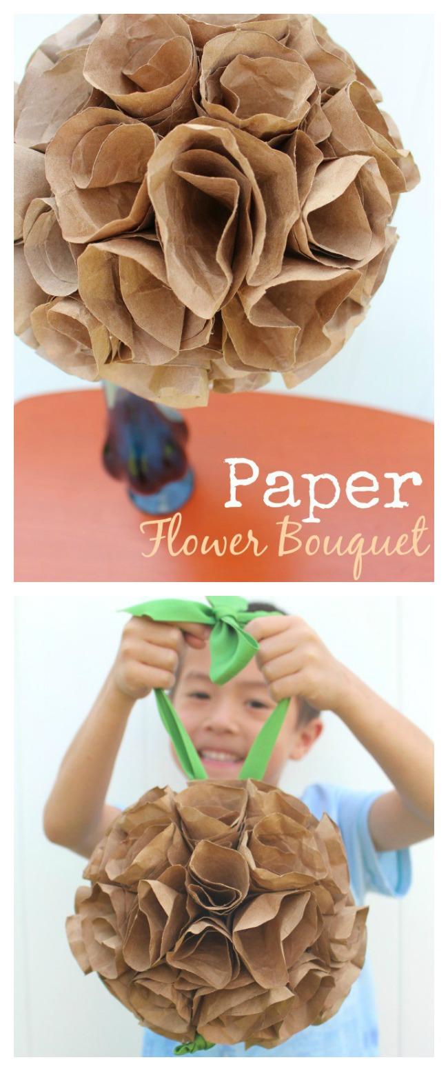 Paper flower bouquet mothers day craft pinterest