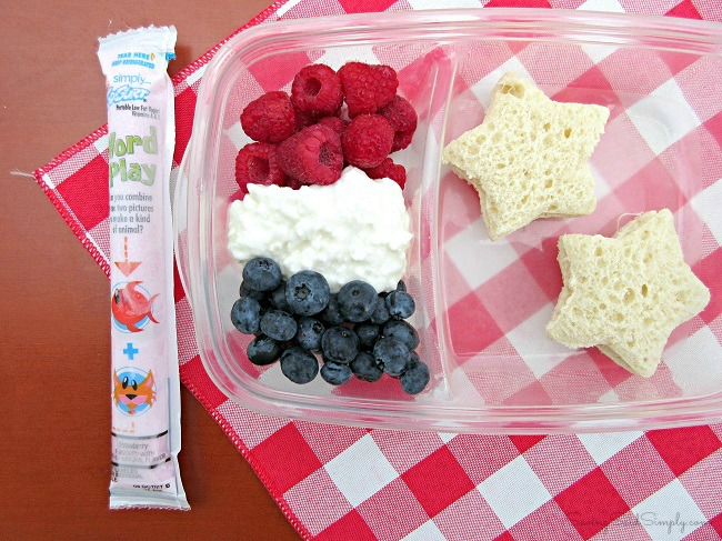 Patriotic bento lunchbox