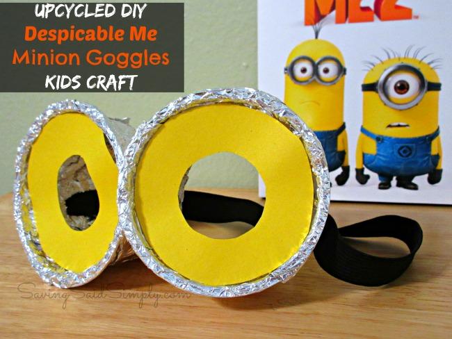 Minions googles kids craft idea