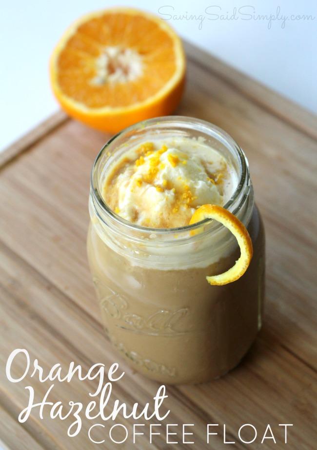 Orange hazelnut coffee float recipe