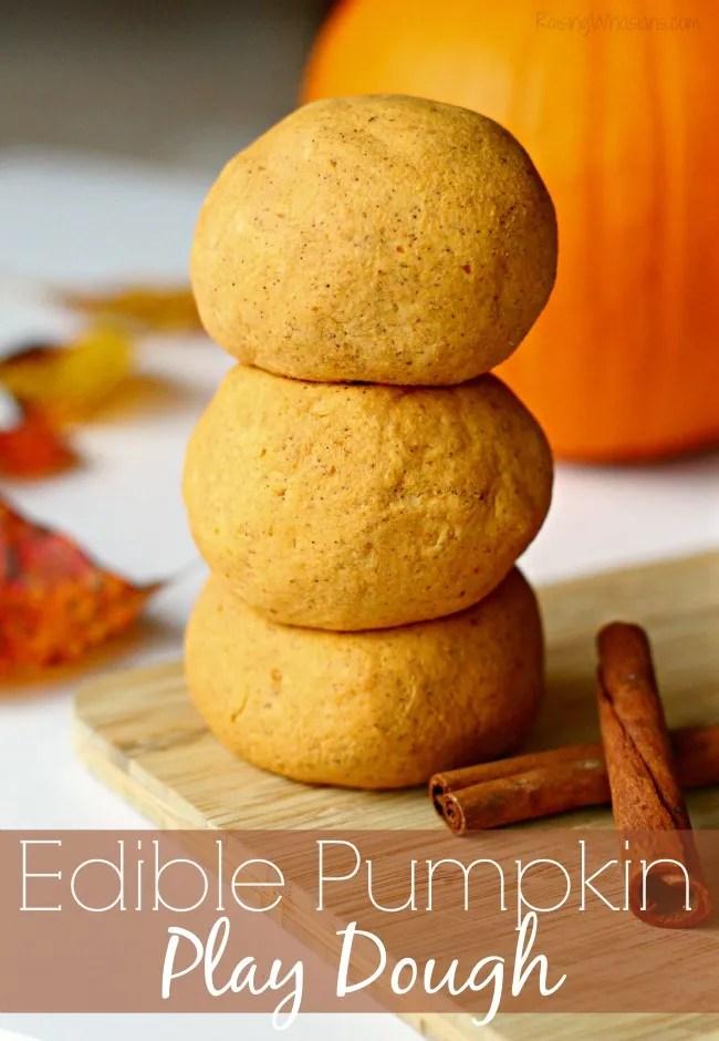 Edible pumpkin play dough diy fall play date