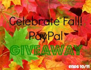 Celebrate Fall PayPal Giveaway