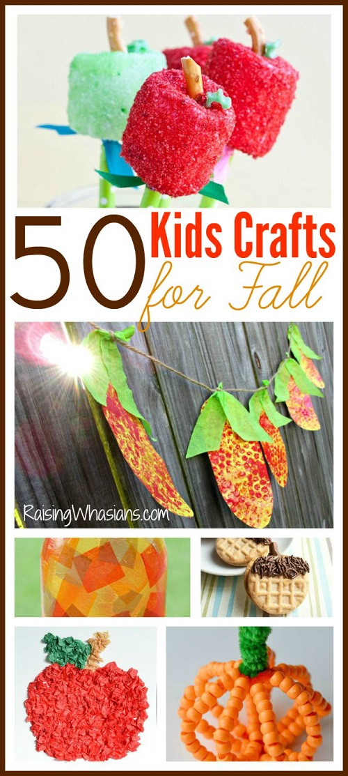 Fall kids crafts ideas roundup