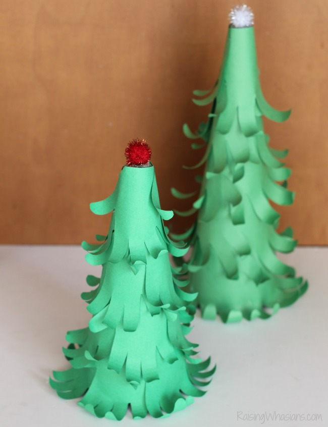 Handprint Christmas tree kids craft