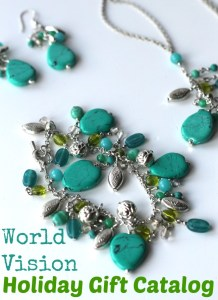 2015 World Vision Gift Catalog + Turquoise Jewelry Set Giveaway